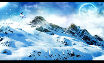 Snow Mountains Wallpaper