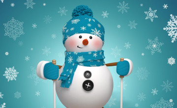 Snowman Desktop Wallpaper