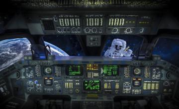 Space Shuttle Cockpit Wallpaper