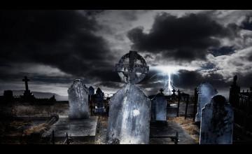 Spooky Graveyard Wallpaper