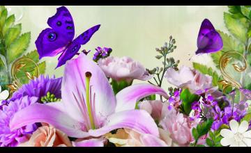 Spring Butterflies Wallpaper