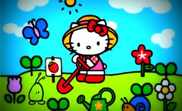 Spring Hello Kitty HD Wallpaper