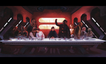 Star Wars Last Supper Wallpaper