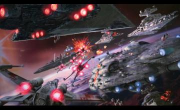 Star Wars Space Battle Background