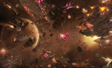 Star Wars Space Battle Wallpaper