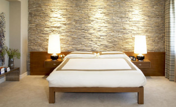 Stone Wallpaper in Bedroom