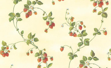 Strawberry Wallpaper for the Kitchen