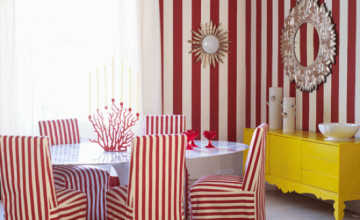 Striped Wallpaper for Dining Room