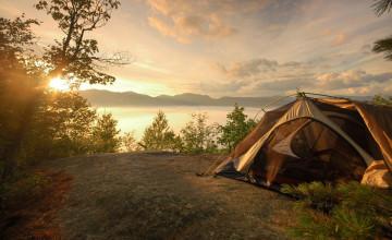 Summer Camping Wallpaper