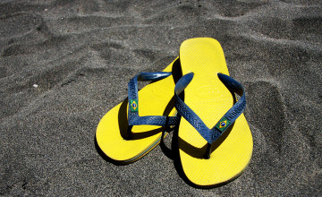 Summer Flip Flops Wallpaper