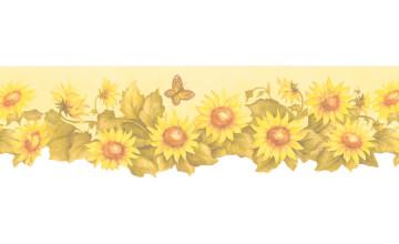 Sunflower Wallpaper Border Prepasted