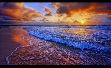 Sunset At Beach Wallpaper