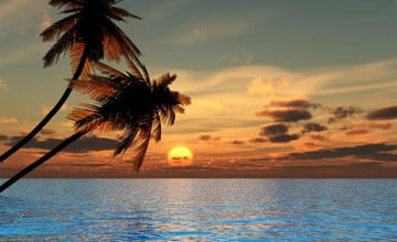Sunset Beach Backgrounds
