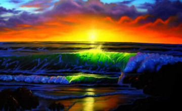 Sunset Ocean Rainbow Wallpapers