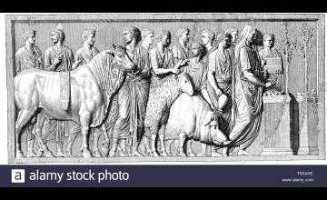 Suovetaurilia Louvre Wallpaper