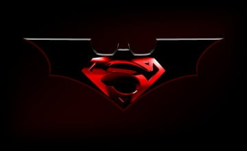 Superman Batman Logo Wallpaper