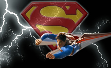 Superman Flying Wallpaper