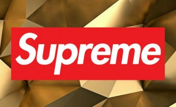 Supreme iPhone Wallpaper Gold