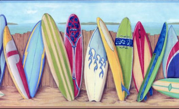 Surfboard Wallpaper Border