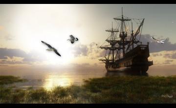 Tall Ships Wallpaper