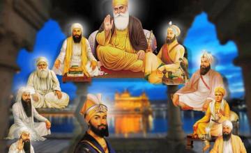 Ten Gurus Wallpapers
