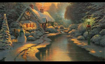 Thomas Kinkade Christmas Wallpaper