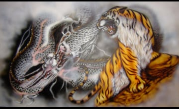Tiger vs Dragon Wallpaper