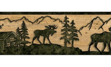 Timber Creek Lodge Wallpaper Border