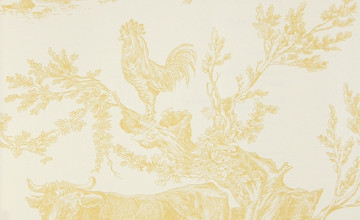 Toile Wallpaper and Matching Fabric