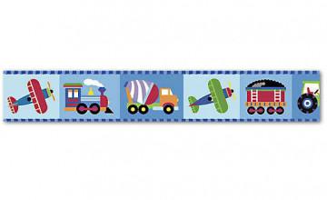 Train Wallpaper Border for Kids