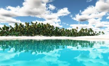 Tropical Island Desktop Wallpaper