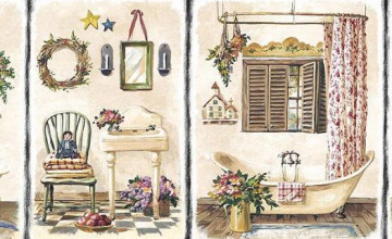 Tropical Wallpaper Borders for Bathrooms