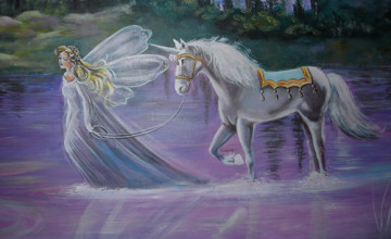 Unicorns Fairies Castles Dragons Wallpaper
