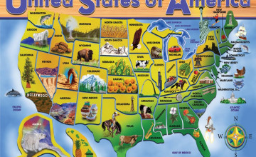 United States Map Wallpaper