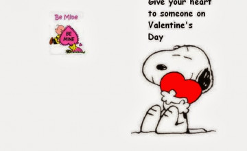 Valentine Snoopy Wallpaper