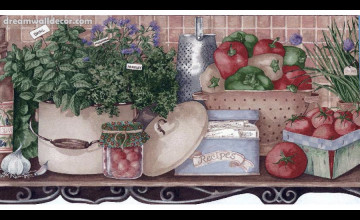 Vegetable Wallpaper Border