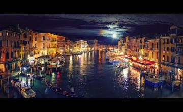 Venice by Night Wallpaper