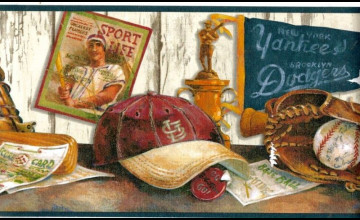 Vintage Baseball Wallpaper Border