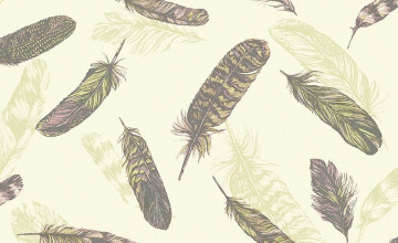 Vintage Feather Wallpaper