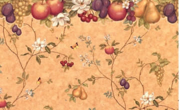 Vintage Fruit Wallpaper