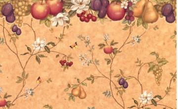 Vintage Fruit Wallpaper