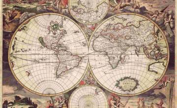 Vintage Map Wallpaper for Walls