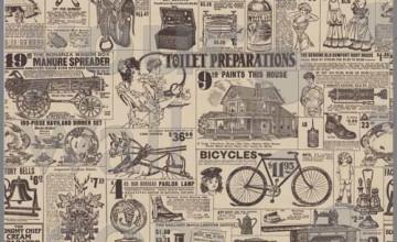 Vintage Newsprint Wallpaper