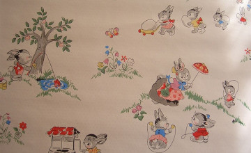 Vintage Nursery Wallpaper