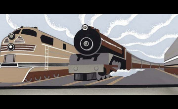 Vintage Train Wallpaper Border