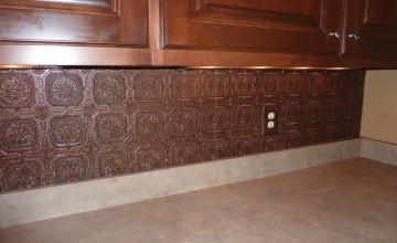 Vinyl Wallpaper Backsplash