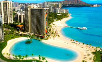 Waikiki Lagoon Wallpaper