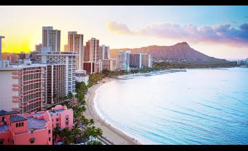 Waikiki Wallpaper 3840X1080