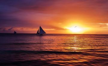 Wallpaper Boracay Beach Sunset
