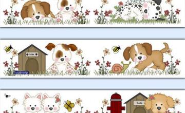 Wallpaper Border Dogs